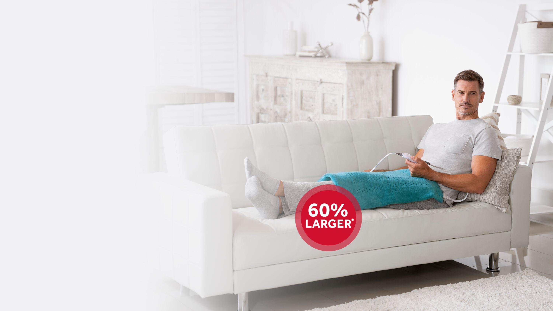 premium XXL heating pad is 60% larger